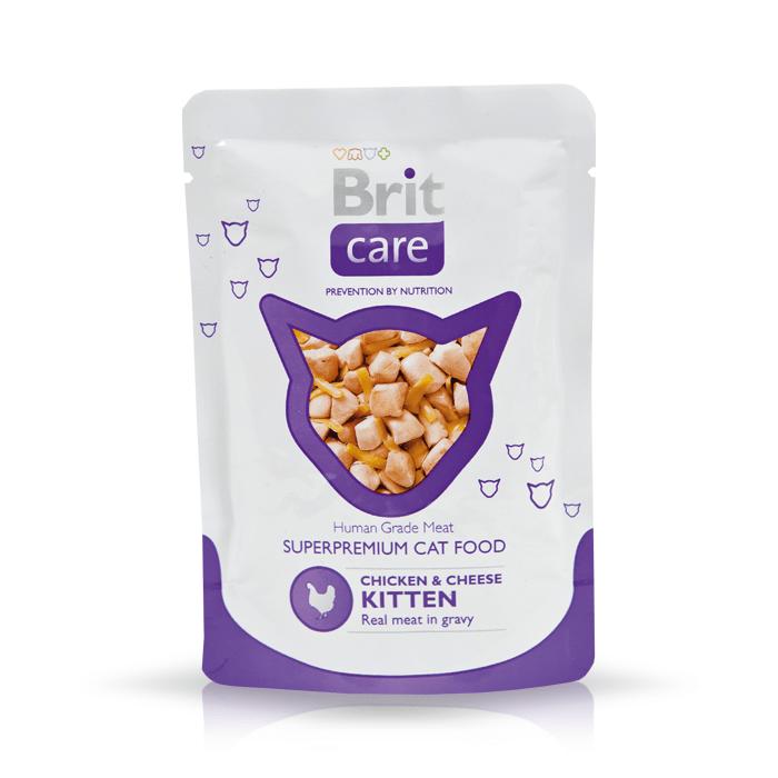 Karmy mokre dla kota - Brit Care Cat Pouch Kitten w sosie 80g x 12