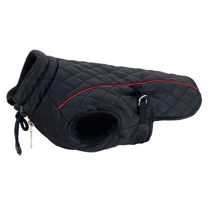 Ubranka dla psa - Grande Finale Kurtka pikowana czarna rozmiar 5