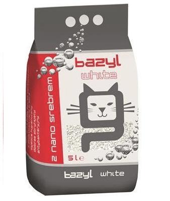 żwirek dla kota - Żwirek Bazyl White 5l