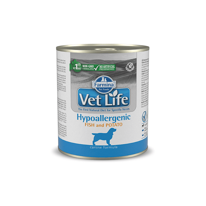 Karmy mokre dla psa - Farmina Vet Life Natural Diet Dog Hypoallergenic Fish & Potato 300g