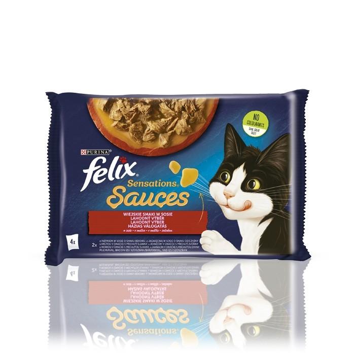 Karmy mokre dla kota - Felix Sensations Sauce Surprise indyk i jagnięcina 85g x (multipak)
