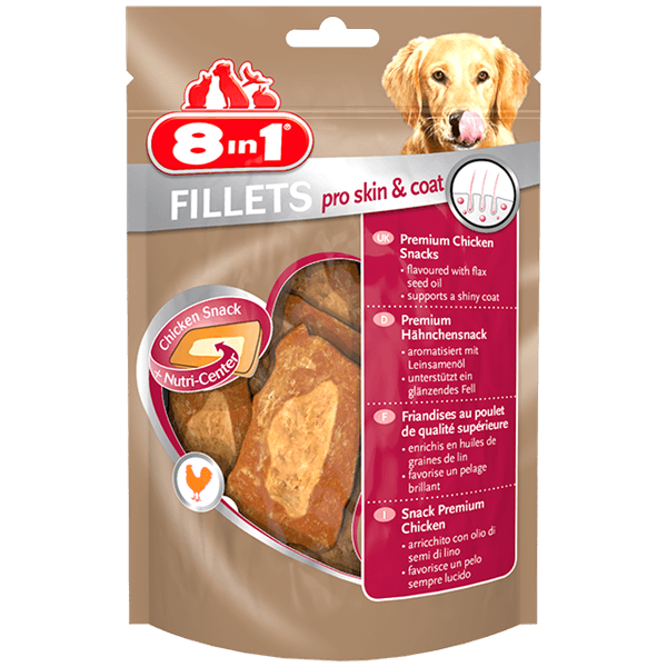 Przysmaki dla psa - 8in1 Fillets Pro Skin & Coat S - przekąska dla zdrowej skóry 80g