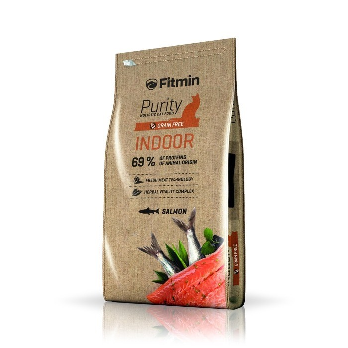 Karmy suche dla kota - Fitmin Cat Purity Grain Free Indoor