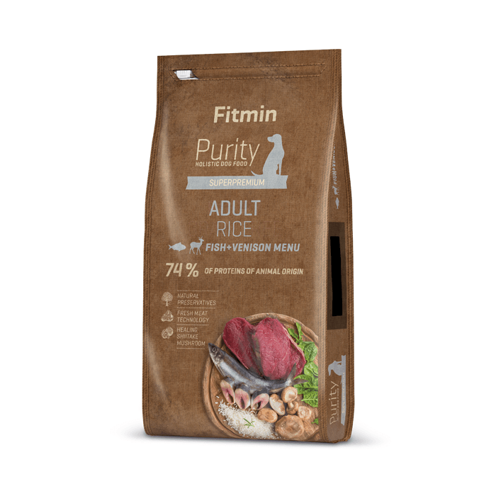 Karmy suche dla psa - Fitmin Dog Purity Adult Rice, Fish & Venison