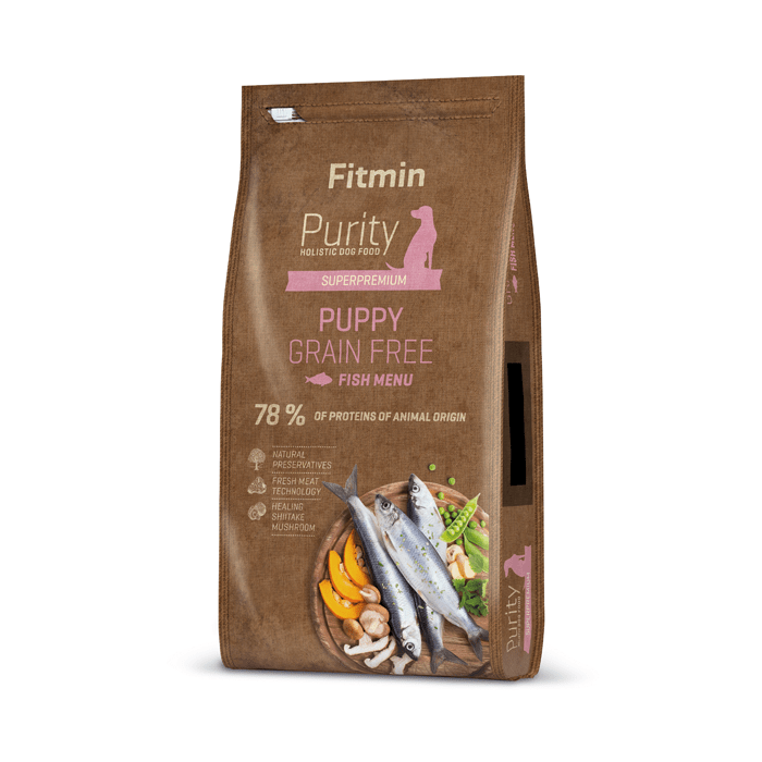 Karmy suche dla psa - Fitmin Dog Purity Grain Free Puppy Fish