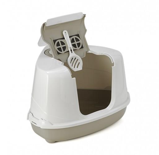 Kuwety, łopatki dla kota - Yarro Moderna Toaleta narożna z filtrem 55x45x39cm