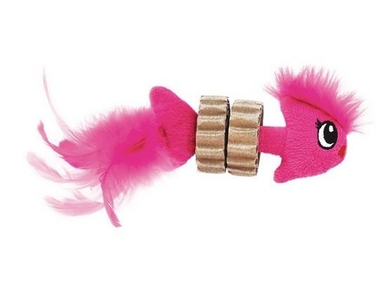 Zabawki - Petstages Karbowana Rybka z Piórkami