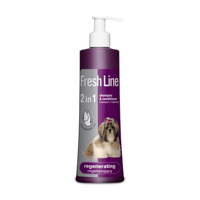 Higiena, pielęgnacja sierści - Fresh line Szampon regenerujący dla psów 220ml