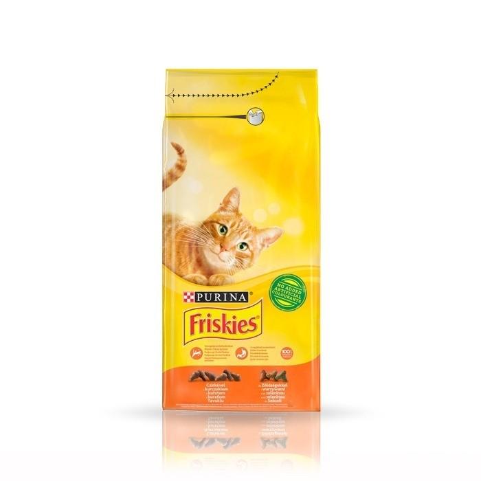 Karmy suche dla kota - Friskies Adult z kurczakiem i warzywami