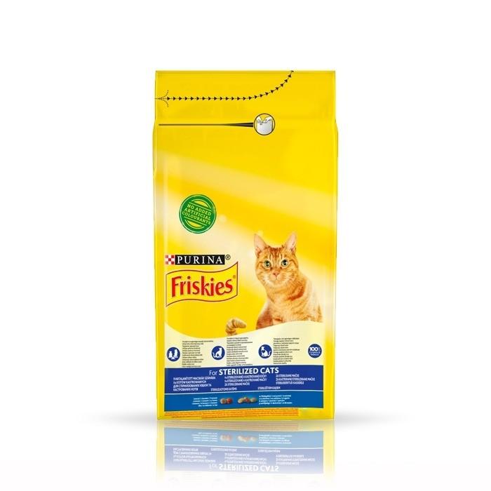 Karmy suche dla kota - Friskies Sterile z łososiem i warzywami