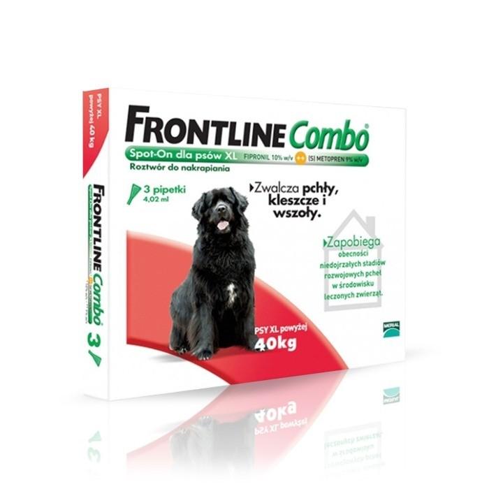 Preparaty lecznicze - Frontline Combo Spot-on krople na pchły i kleszcze XL (40-60kg) 3szt.