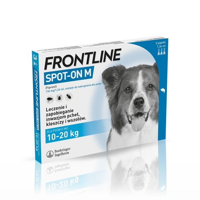 Preparaty lecznicze - Frontline Spot On Pies M 10-20 kg 3 x 1.34ml