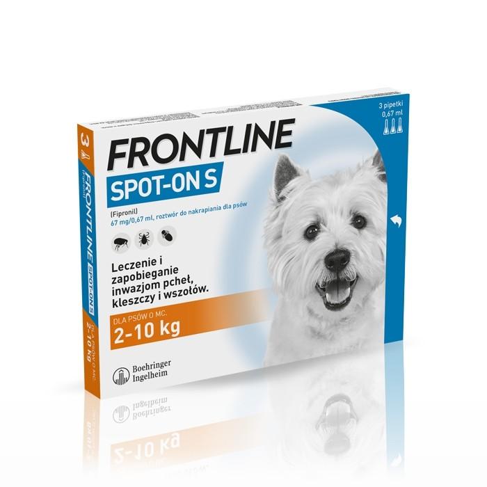 Preparaty lecznicze - Frontline Spot On Pies S do 10 kg 3 x 0.67ml