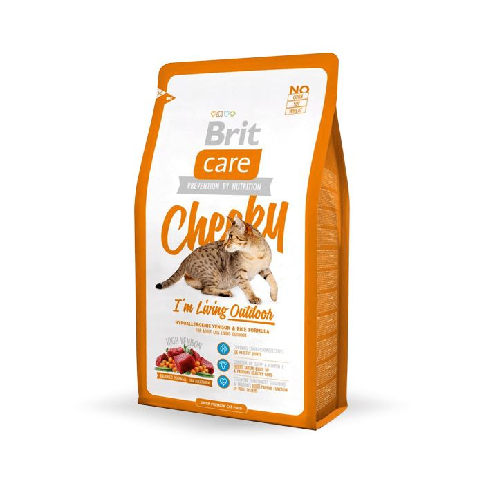 Karmy suche dla kota - Brit Care Cat Cheeky I'm living Outdoor