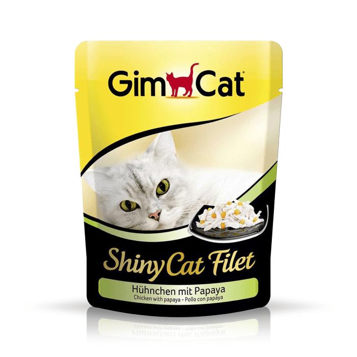 Karmy mokre dla kota - Gimcat ShinyCat 70g x 12