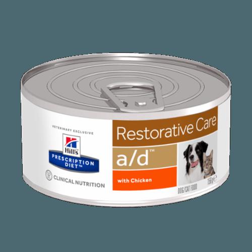 Karmy mokre uniwersalne - Hill's Prescription Diet Feline/Canine a/d Restorative Care z kurczakiem 156g