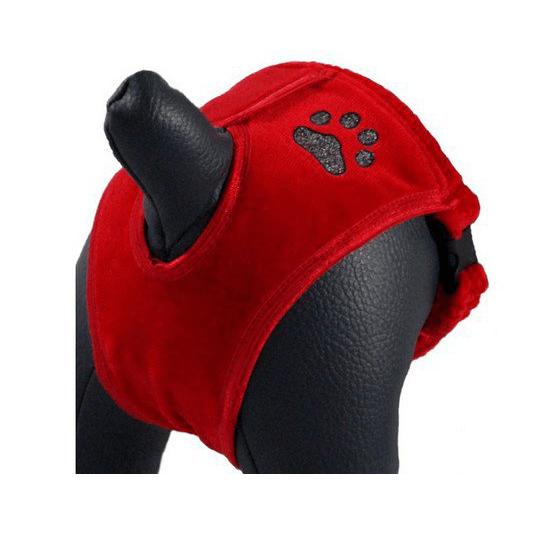 Ubranka dla psa - Grande Finale Majtki na cieczkę czerwone Paw