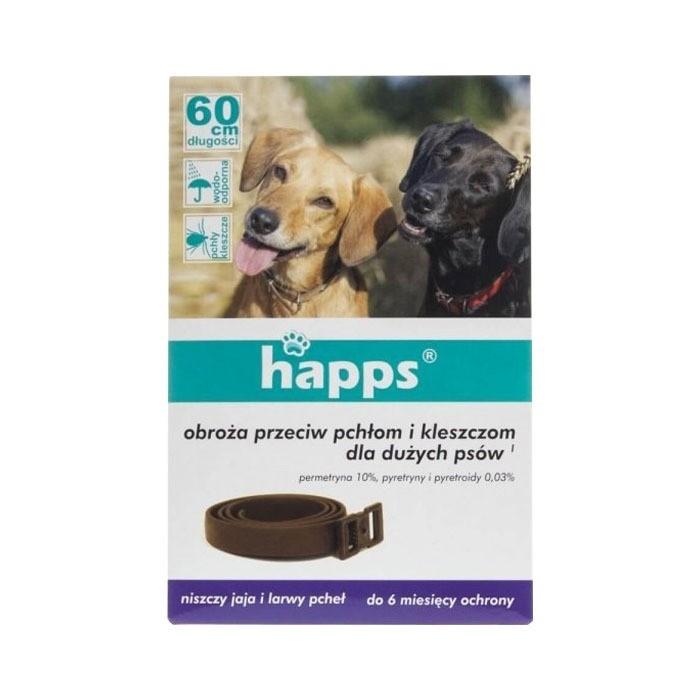 Preparaty lecznicze - HAPPS Obroża przeciw pchłom i kleszczom dla psów