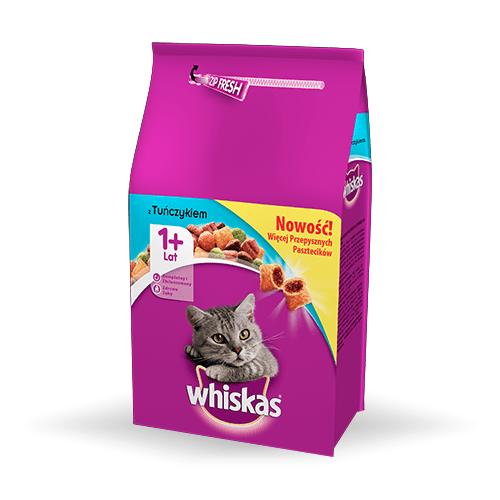 Karmy suche dla kota - Whiskas Adult z tuńczykiem i warzywami