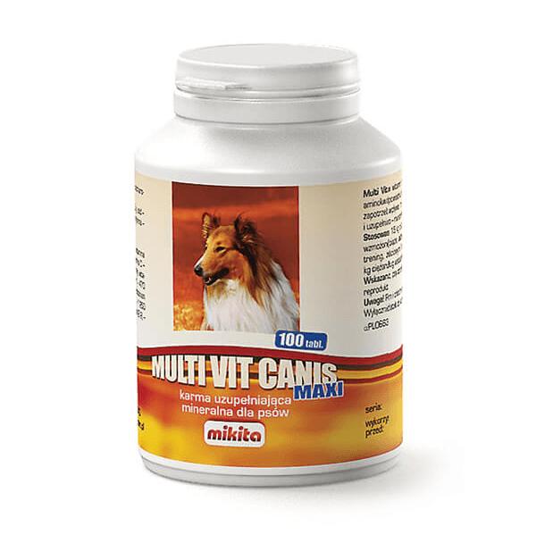 Suplementy - Mikita Multi Vit Canis Maxi 100 tabl.