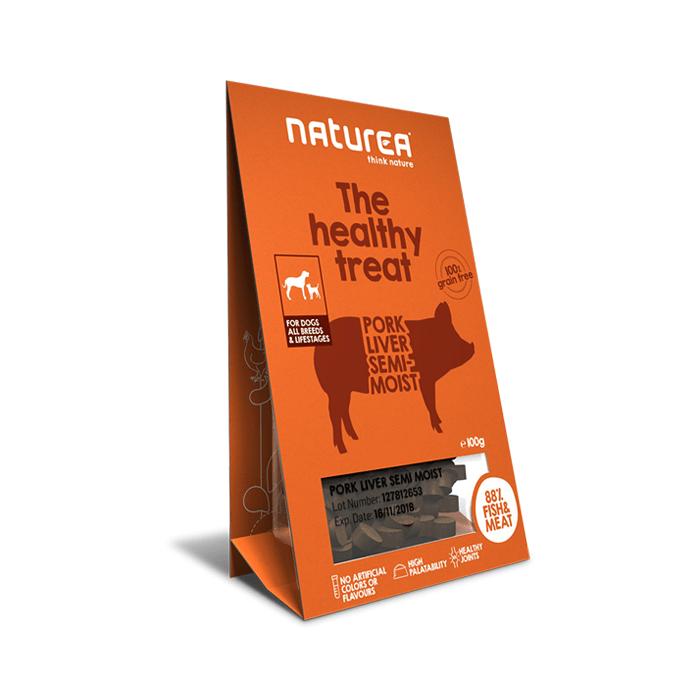 Przysmaki dla psa - Naturea Healthy Treat bezzbożowy z wątróbką 100g