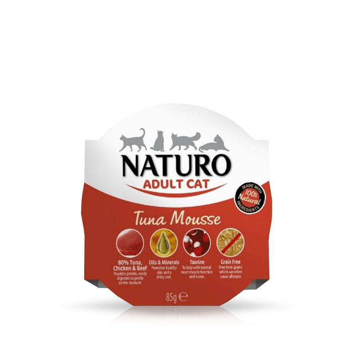 Karmy mokre dla kota - Naturo Adult Cat Mus 85g x 12