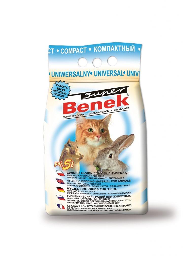 żwirek dla kota - Żwirek Super Benek Uniwersalny Compact 5l