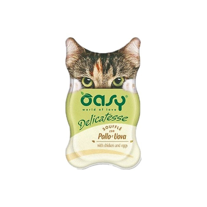 Karmy mokre dla kota - Oasy Delicatesse souffle 85g x 12