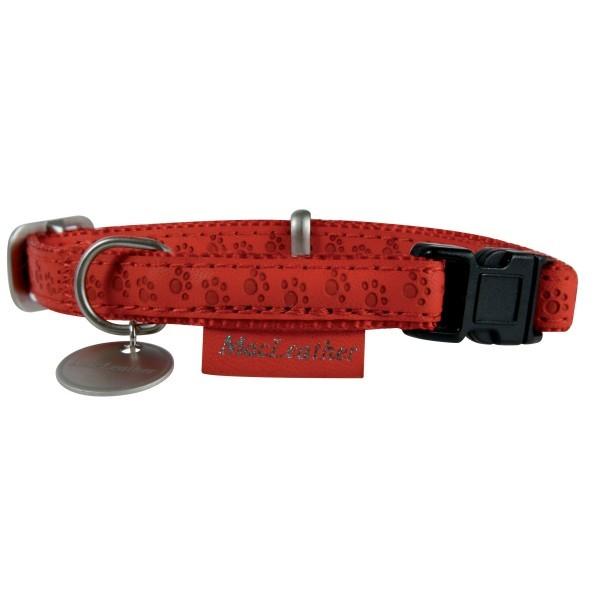 Smycze, obroże, szelki - Zolux Obroża regulowana Mac Leather Czerwona