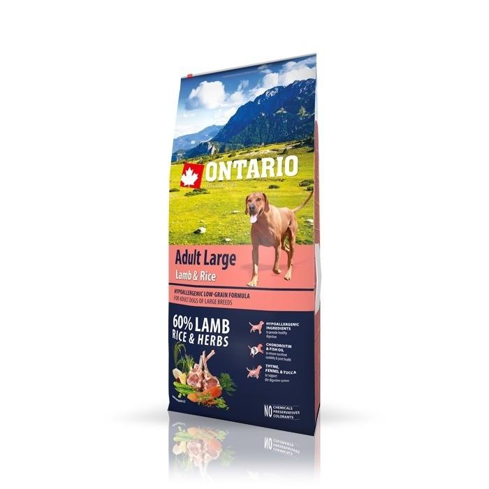 Karmy suche dla psa - Ontario Adult Large Lamb & Rice
