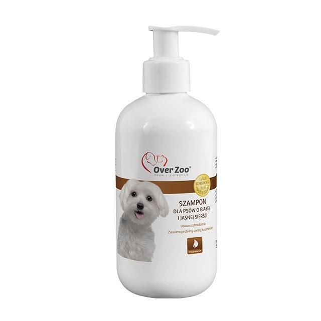Higiena, pielęgnacja sierści - Over Zoo Szampon dla psów o białej sierści 250ml