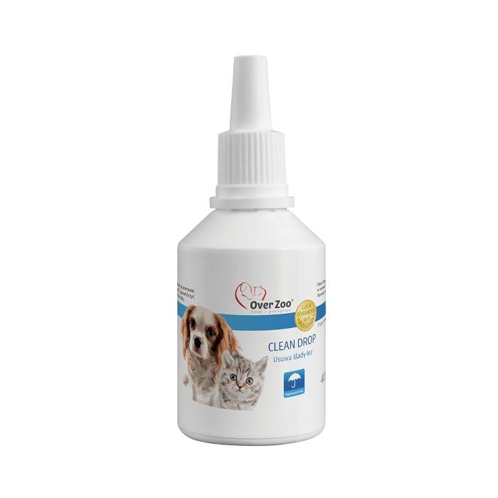 Higiena, pielęgnacja oczu, uszu, zębów - Over Zoo Clean Drop usuwający ślady łez 40ml
