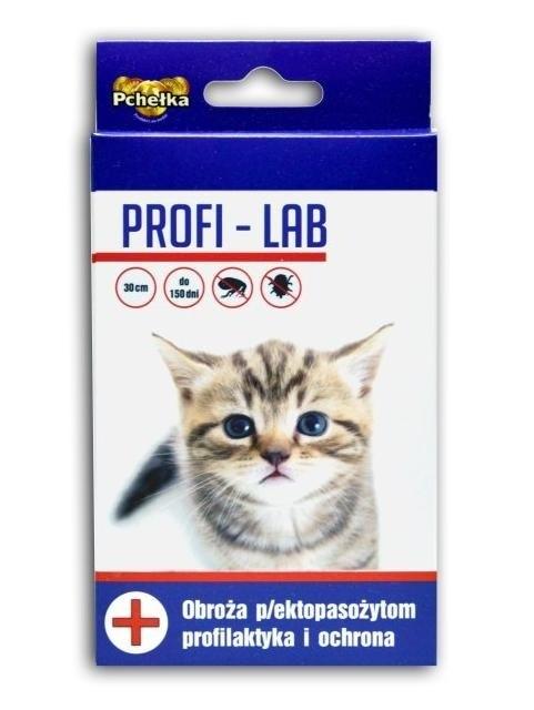 Preparaty lecznicze - Pchełka Obroża PROFI-LAB przeciw ektopasożytom dla kotów 30cm