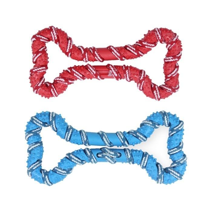Zabawki - Pet Nova Kość miętowa RopeBone ze sznurkiem