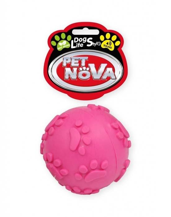 Zabawki - Pet Nova Piłka miętowa SoundBall z dźwiękiem różowa 6cm