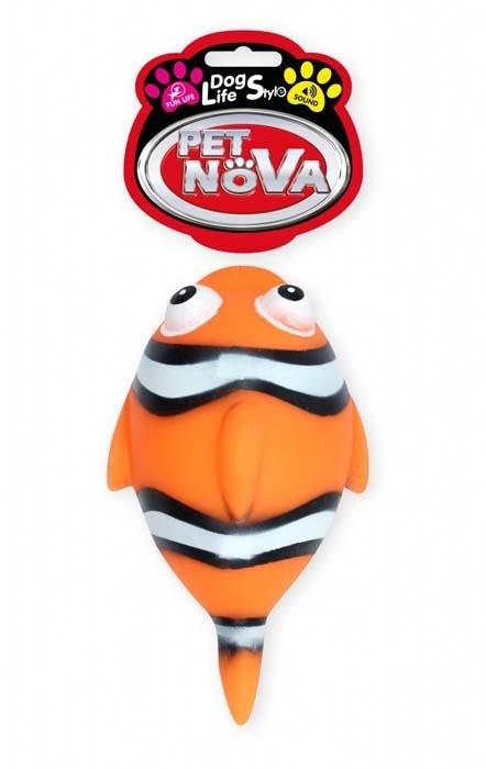 Zabawki - Pet Nowa Rybka gumowa Nemo z dźwiękiem 13,5cm