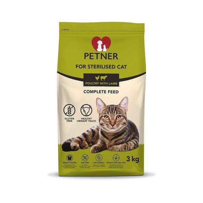 Karmy suche dla kota - Petner Sterilised Cat z kurczakiem i jagnięciną