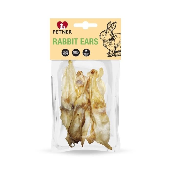Przysmaki dla psa - Petner Uszy królika 50g