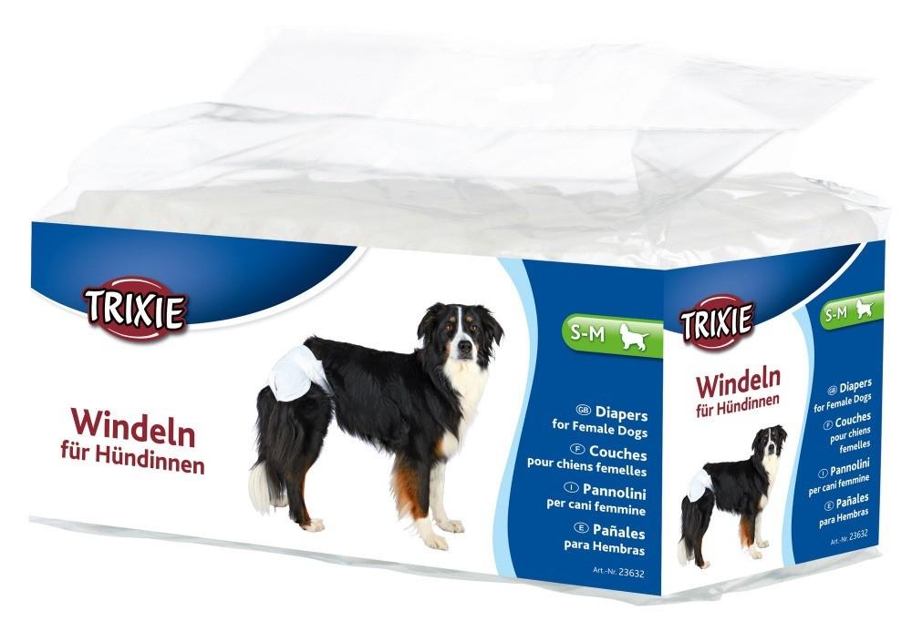 Produkty higieniczne - Trixie Pieluchy dla suczek rozmiar S-M 12szt.