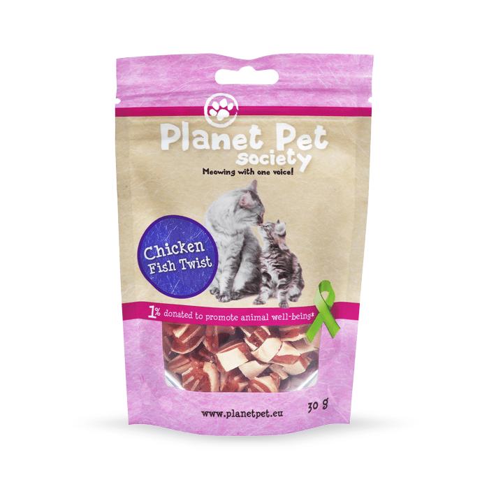Przysmaki dla kota - Planet Pet Chicken Fish Twist przysmak dla kota 30g