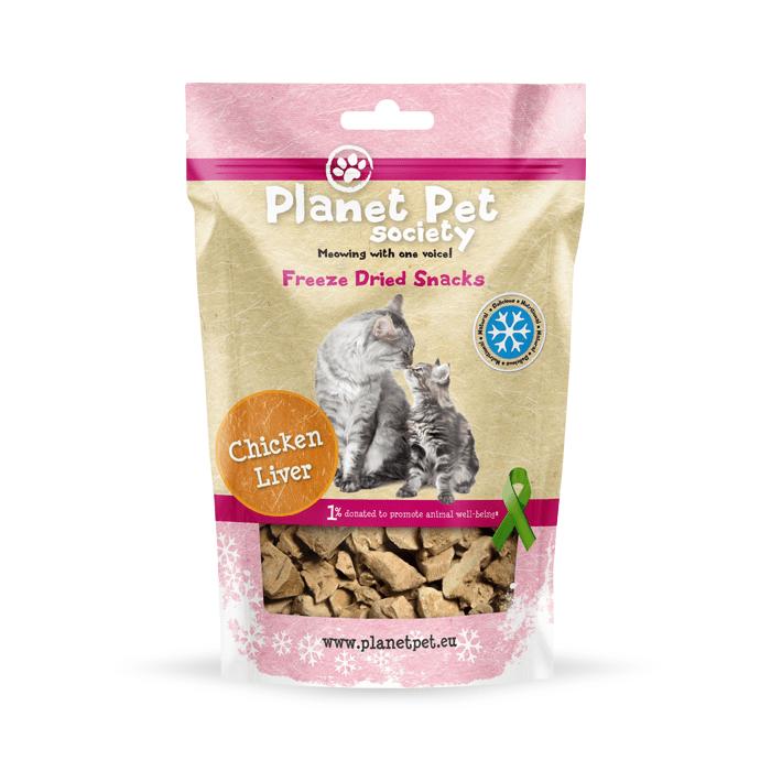 Przysmaki dla kota - Planet Pet Liofilizowana wątroba kurczaka przysmak dla kota 30g