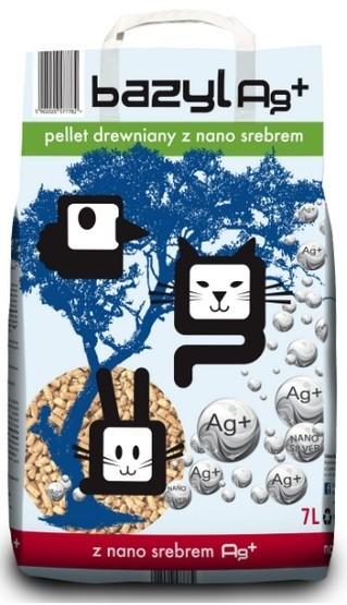 żwirek dla kota - Żwirek Bazyl Ag+ Pellet Drewniany 7l