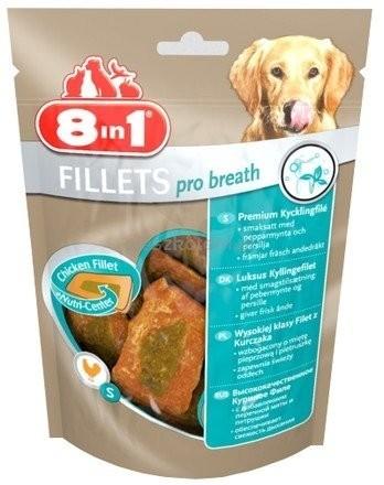 Przysmaki dla psa - 8in1 Fillets Pro Breath - przekąska na świeży oddech 80g