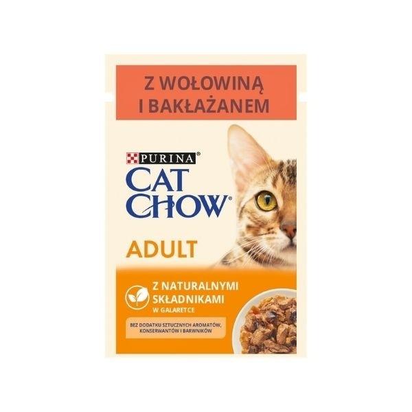 Karmy mokre dla kota - Cat Chow Adult 85g x 12