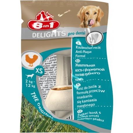 Przysmaki dla psa - 8in1 Dental Delights Bones kość wiązana XS