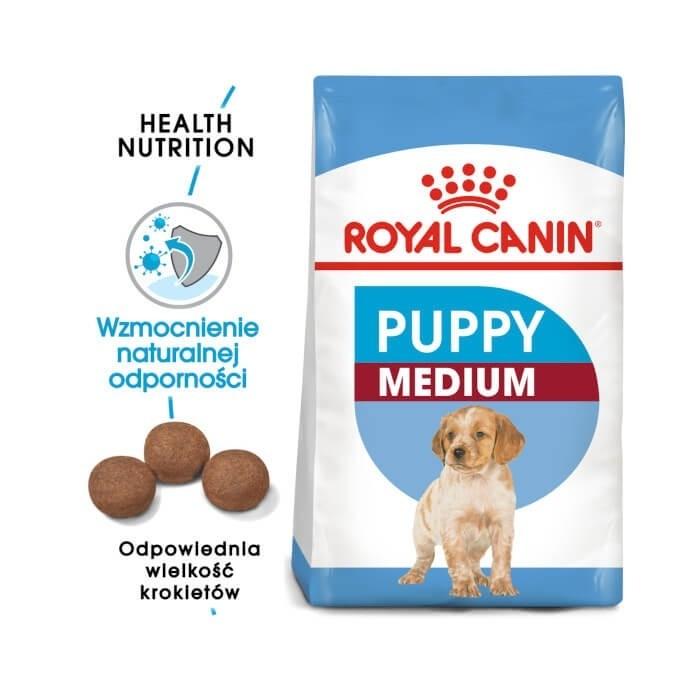Karmy suche dla psa - Royal Canin Medium Puppy karma sucha dla szczeniąt ras średnich