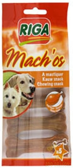 Przysmaki dla psa - Riga Machos Kość prasowana wołowa 8,5cm 5szt.