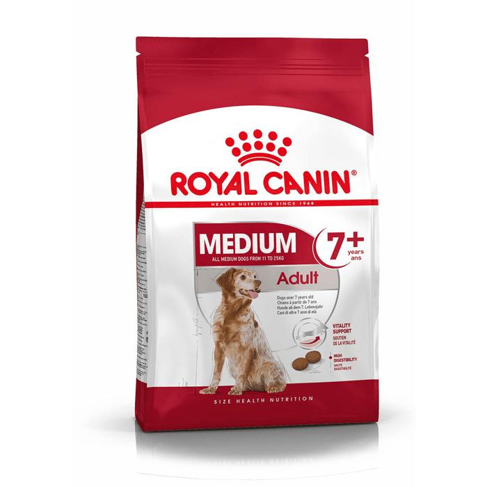 Karmy suche dla psa - Royal Canin Medium Adult 7+ 15kg