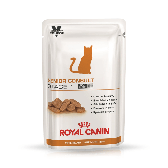 Karmy mokre dla kota - Royal Canin Veterinary Care Nutrition Feline Senior Consult Stage 1 100g