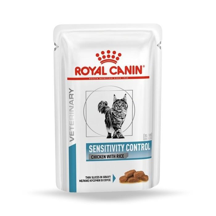 Karmy mokre dla kota - Royal Canin Veterinary Diet Feline Sensitivity Chicken & Rice 85g